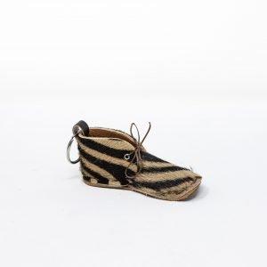 Portachiavi Animalier- Brown, Zebra striped