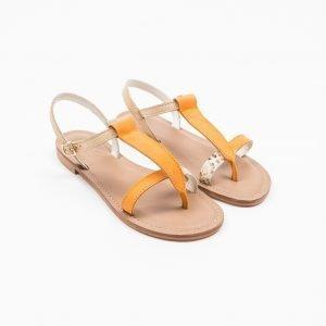 Sandals nabuk arancio