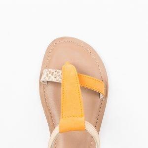 Sandalo nabuk arancio