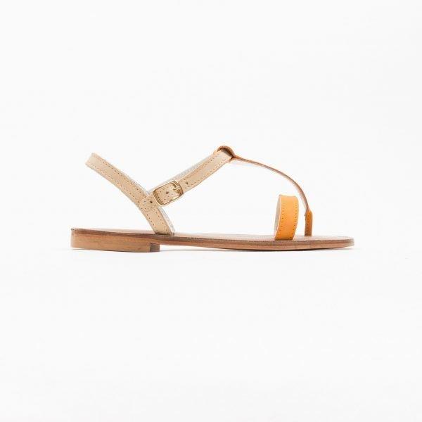 Sandali nabuk arancio