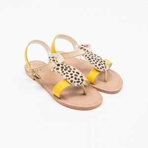 Sandals nabuk giallo