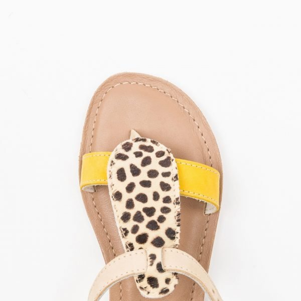Sandali infradito leather animalier