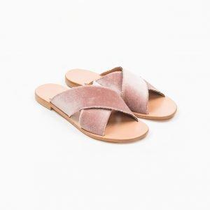 Sandals Velluto rosa