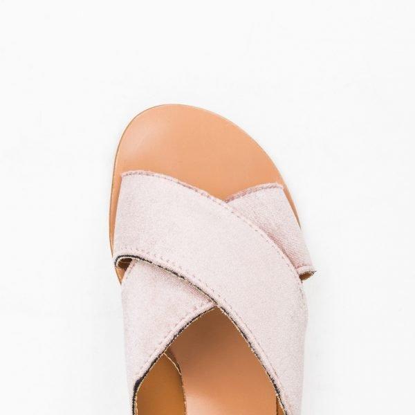 Sandali Velluto rosa