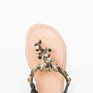 Sandalo vacchetta nera