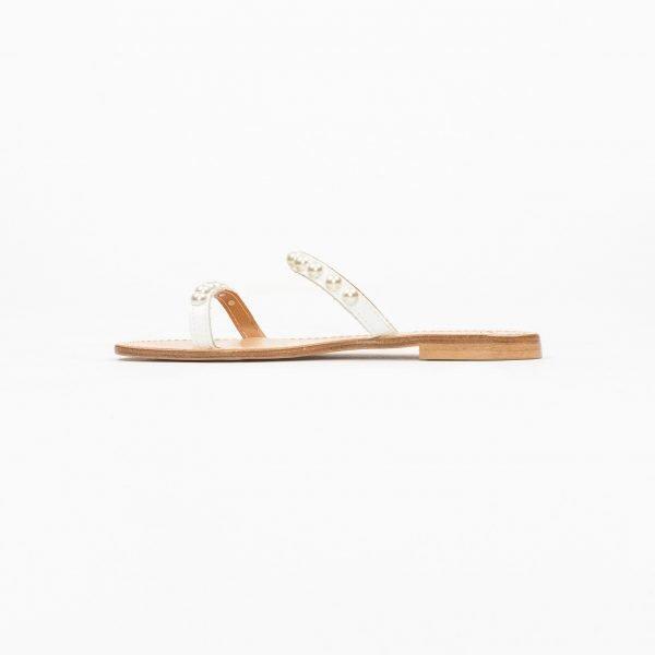 Sandali vacchetta bianca