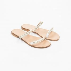 Sandals vacchetta bianca