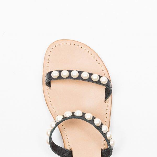 Sandali vacchetta nera