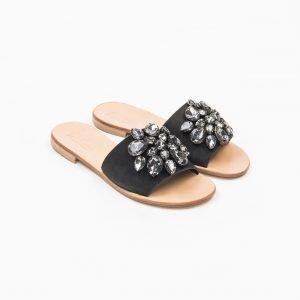 Sandals nabuk nero