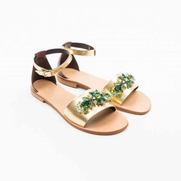 Sandali laminato platino