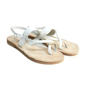 Women Sandals Renato L'Artigiano cowhide white bottom leather washed natural