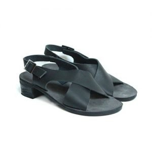 Women sandals Renato L'Artigiano cowhide black bottom leather washed black T25