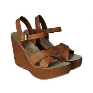 Woman Sandals Renato l'Artigiano coconut Leather Craftsman wedge wrapped suede leather H110