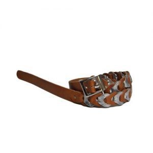 Belt Renato L'Artigiano in Rolled natural cowhide cracked silver