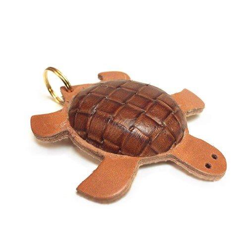 Portachiavi in cuoio tartaruga