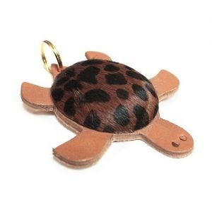 Keychain mini leather turtle cheetah dark mod. 001