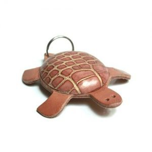 Keychain mini leather turtle spotted mod. 001