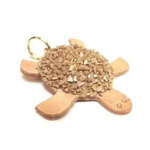Keychain mini leather turtle stones mod. 001