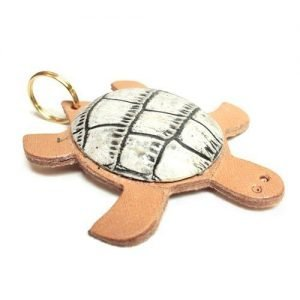 Keychain mini leather turtle rock mod. 001