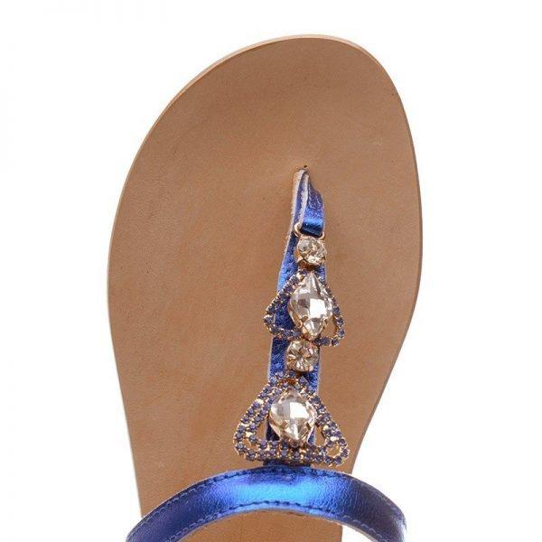 Sandali Gioiello  Positano laminato Blu