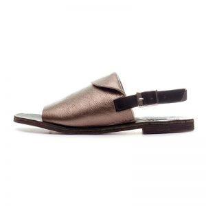 Sandalo positano laminato argento