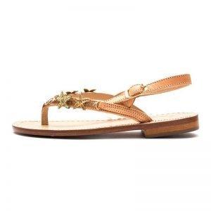 Sandalo positano bimba pelle bianca