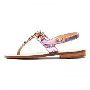 Sandalo Positano Bimba Laminato Rosa
