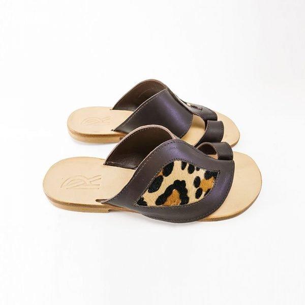 Sandali infradito leopardo