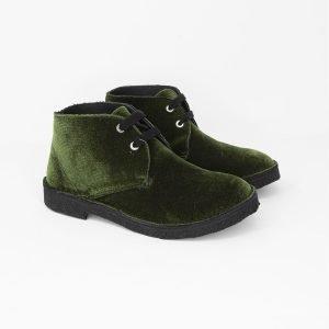 Polacchini velluto green
