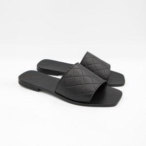 Sandali black leather